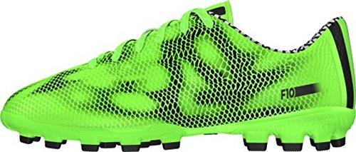 Adidas - Adidas F10 AG J Scarpini Calcio Bambino Verdi Pelle B26879 Verde