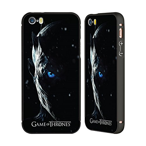 Offizielle HBO Game Of Thrones Night King Werbemotiven Staffel 7 Schwarz Rahmen Hülle mit Bumper aus Aluminium für Apple iPhone 6 Plus / 6s Plus Night King