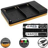 Batería (6600mAh) + Cargador Doble (USB) NP-F960, F970 para Sony videocámaras | Neewer LED luz de vídeo | ATOMOS Shogun, Ninja… y mas - Ver Lista de compatibilidad