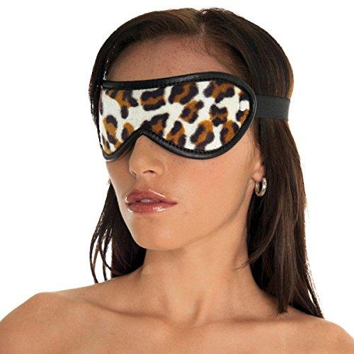 Erotic Fashion ra7930 Augenbinde, Leopard-schwarzes Leder, 1er-Pack (1 x 1 Stück)
