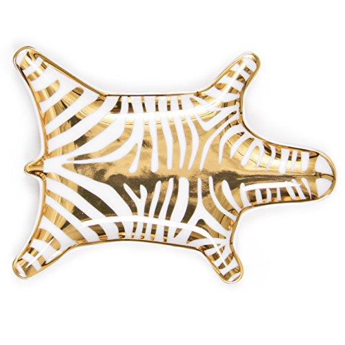 Jonathan Adler Metallic Zebra, Gold - Jonathan Adler Designer