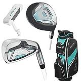 Damen Wilson ProStaff HDX Golf Komplettset Eisen 6-SW, Holz 5, Putter Trolleybag