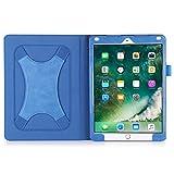 BeePole-Coque-Etui-Housse-pour-nouveau-iPad-2017-iPad-Air-iPad-Air2-97-pouces-avec-Bracelet-Amlior-X-bande-de-Main-Etui-Housse-PU-en-cuir-de-nouveau-iPad-97-pouces-Sorti-en-2017-avec-Support-dAngle-Mu