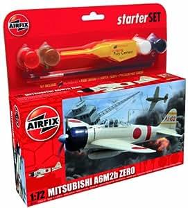 Airfix 1:72 Mitsubishi Zero Military Aircraft Category 1 Gift Set