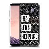 Head Case Designs Be The Alpha Fitness Typographie Ruckseite Hülle für Samsung Galaxy S8+ / S8 Plus