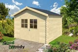 GoodWoody 28 mm Gartenhaus Noja ca. 300x300 cm Lieferzeit 2 Wochen!