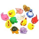 13 Piezas Bebé Juguetes Para El Baño Mini Animal Flotantes De Goma Suave