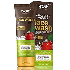 WOW Skin Science Apple Cider Vinegar Face Wash - No Parabens, Sulphate, Silicones & Color (100mL)