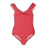 La-V Mädchen Badeanzug Rot Gepunktet/Größe 104/110