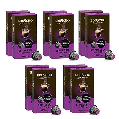 Tchibo Eduscho Espresso Intenso - Nespresso* kompatible Kapseln, 100 Stück (10x10 Kapseln)