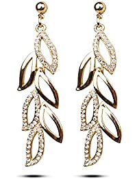 YouBella Gold Plated Drop Earrings for Women (Golden)(YBEAR_31222)