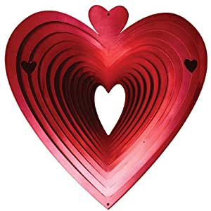 Iron stop Windspiel mit Herzen, Größe: S; Farbe: Rot