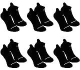BRUBAKER Chaussettes de sport - Lot de 6 Paires - Talon renforcé et Languette douce - Noir avec logo blanc - EU 39-42