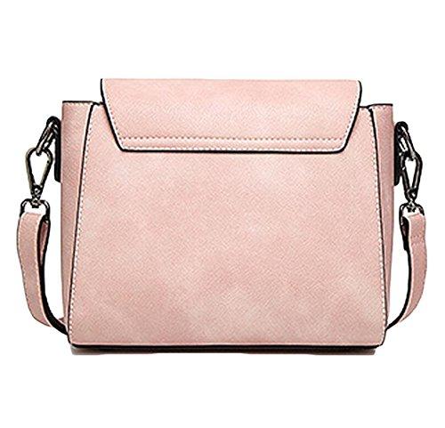 Pelle Signora PU Pacchetto Di Blocco Piccolo Fashion Square Pink