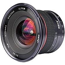 Meike 12mm f / 2.8 Ultra Weitwinkel-Objektiv Mit Abnehmbarer Kapuze für Sony A7II A7SII A7RII A6500 A9 und Spiegellose Kamera Mit APS-C