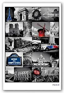Paris Collage - France de Tirages d'Art Poster