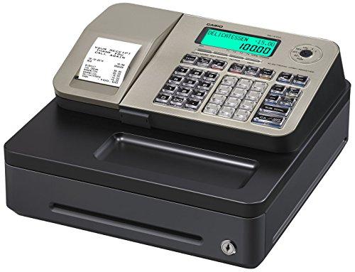Casio SE-S100SB-GD-FIS GDPdU-fähige Registrierkasse inclusive Softwarelizenz, SD-Card und Batterie Komplettpaket und kostenfreier Hotline, gold/schwarz