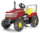 Rolly Toys 03 555 7 Rollyx-trac - Tractor con pedales, color rojo y amarillo