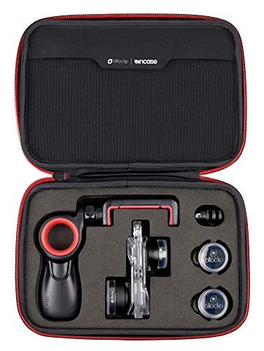 Olloclip - Filmer's Kit, Studio Portatile per iPhone 7/7 Plus & 8/8 Plus, Accessori per Foto, Video, Selfie, Panoramiche in Alta Definzione – Nero