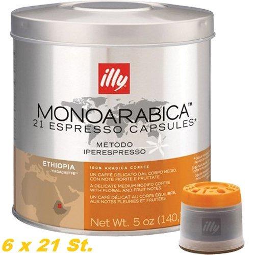 Illy Espresso Kapseln Iperespresso Monoarabica Äthiopien 6 x 21 St. = 126 St.
