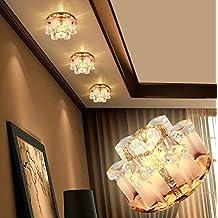 Luces de pasillo led Luces de pasillo Luces de porche de entrada Vestíbulo Balcón Lámpara de techo Lámpara de techo Crystal Downlight , 4