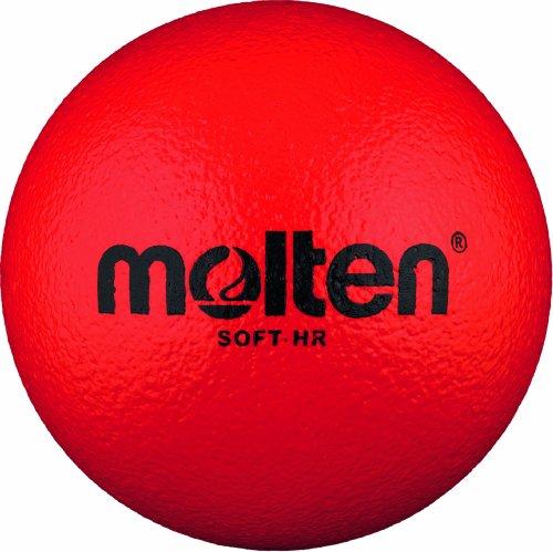 Molten Ball Softball Handball Soft-HR, Rot, Ø 160 mm, Rot, 100g, Durchmesser 160 mm, Soft-HR