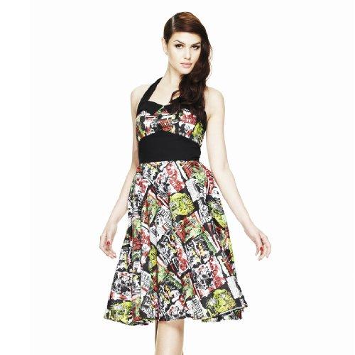 Hell Bunny London – 50er Jahre Kleid mit mit coolem Alloverprint - 2