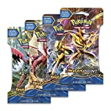 "Pokemon XY9 ""Break Point"" 4x Booster Pacchetti = 40 Carte Supplementari per Pokemon TCG (inglese)"