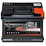 Autobatterie 12V 45Ah 420 A/EN BlackMax45 ersetzt 36 40 41 43 44 46 48 50 Ah