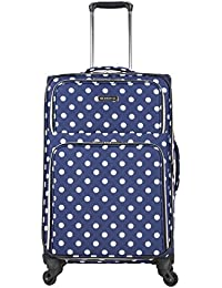 """Heritage 24"""" Polka Dot Printed 600d Polyester Expandable 4-Wheel Checked Luggage"""