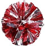 lumanuby Party deportes disfraz animadora pompones de bola de flores con mango de plástico Mano Flores Rookie bola 1pc