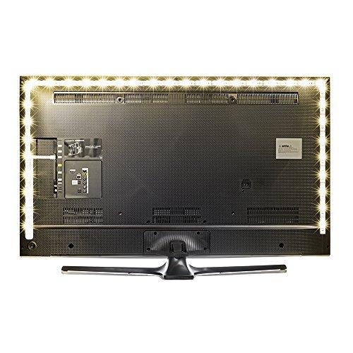 Kreema 118inches LED TV Bias Beleuchtung Hintergrundbeleuchtung Streifen Warmweiß Strip Kit, USB Powered, Ambient Hintergrundbeleuchtung für HDTV TV PC Monitor Hdtv-kit