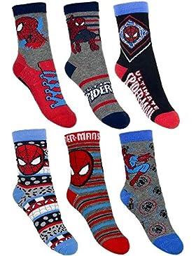 6 Paar Spiderman Jungen Socken