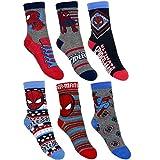 6 Paar Spiderman Jungen Socken Kinder Strümpfe 23-26 / Spiderman