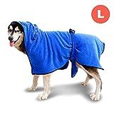 GiBot Bademantel für Hunde Mikrofaser Schnelltrocknende und Wasserabweisende...