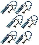 hochwertigen–PCI-E Express 1X auf 16X Extender Riser Karte + SATA 6pin Power Kabel + 60cm USB 3.0Verlängerungskabel–Versand aus Großbritannien–AAA Products® 6 Pcs