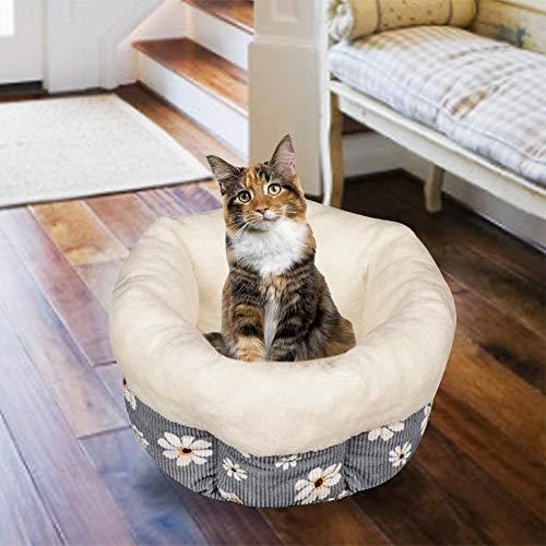 Haustierbett Katze Hund Winterbett Soft Deep Sleep Katzenstreu Round Pet Nest Warmes Bett Striped PP Cotton Katzenbett Für Herbst Und Winter