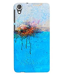 Citydreamz Blue White Abstract Design Hard Polycarbonate Designer Back Case Cover For HTC Desire 628/ HTC Desire 628 Dual Sim