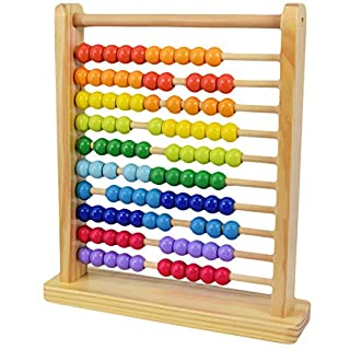 Large Wooden Abacus Counting Number Frame Learning Toy