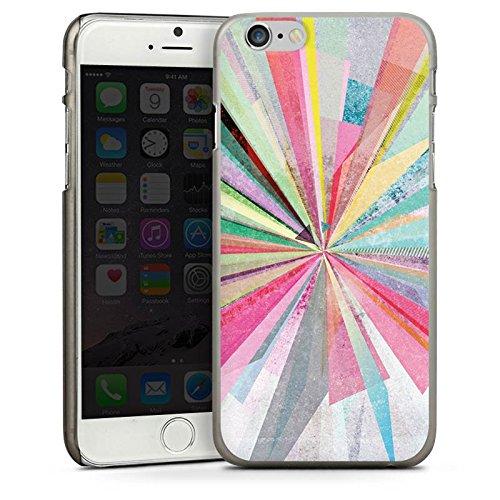 Apple iPhone 5s Housse Étui Protection Coque Arc-en-ciel Couleurs Diamant CasDur anthracite clair
