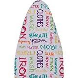 Magna Homewares Deluxe Iron Board Cover With Extra Thick Pad -Alphabet design (Fits 120-128cm L X 36-44cm W - Ironing Board)
