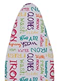 #8: Magna Homewares® Deluxe Iron Board Cover With Extra Thick Pad -Alphabet design (Fits 120-128cm L X 36-44cm W - Ironing Board)
