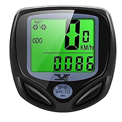 Y&S Bike Computer Wireless Waterproof Cycling Computer Automatic Wake-up Multifunctions Bicycle Speedometer Odometer Backlight LCD Display-Tracking Distance Avs Speed Time from Y&S