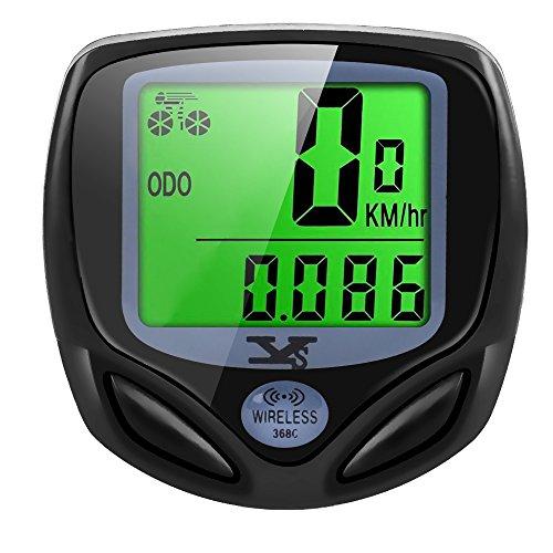 Fahrradcomputer Kabellos, Wasserdichte Tacho Fahrradtacho Drahtlos Radcompute Auto Wake Up Backlight LCD-Hintergrundbeleuchtung Motion Sensor für Radsport Realtime Geschwindigkeit und Distanz Track