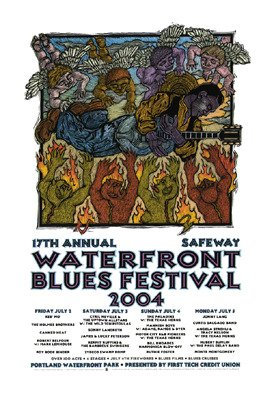 waterfront-blues-festival-2004-limited-edition-siebdruck-print-music-poster-von-gary-houston-origina