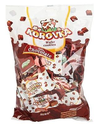 """Korovka """"Waffelschnitten"""" mit Schoko-Geschmack 1 Karton mit 8 Packungen"""
