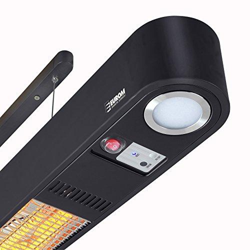 Heizstrahler Wand- und Deckenaufhängung mit LED Beleuchtung und Fernbedienung - 2