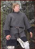 LARP Kettenhemd Haubergeon aus Federstahl, ID 8 mm Mittelalter Wikinger Größe XXL