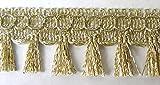 16,40m Fransen-Borte 2,5cm breit Farbe: helles Lurexgold TSL-2873-E-lt.Gold