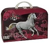 Unbekannt Kinderkoffer Pferd weißer Schimmel - Groß - Puppenkoffer Koffer Reisekoffer aus Pappe - für Kinder Pferde Stute Mädchen